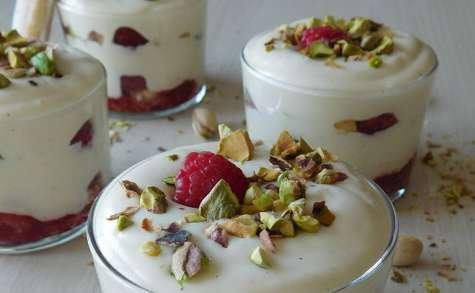 Trifles framboises et pistaches