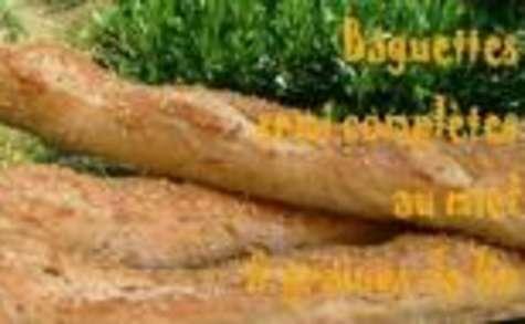 Baguettes Semi Complètes au Miel et Graines de Lin