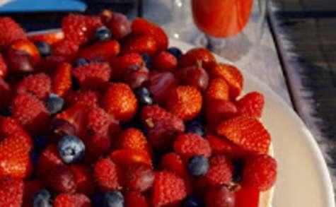 Cheesecake aux fruits rouges sans cuisson