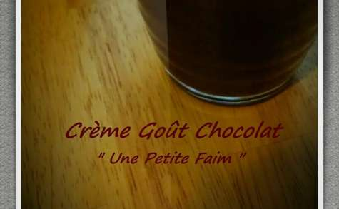 Crème goût chocolat
