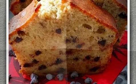 Cake banane et pépites de chocolat