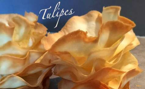 Tulipes coupelles pour desserts