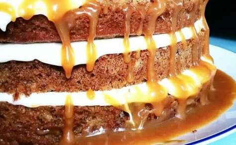 Banana layer cake, caramel beurre salé