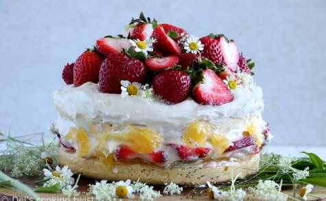 Gâteau suédois de Midsommar aux fraises