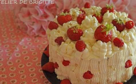Layer Cake, fraises, framboises, citron et choco blanc