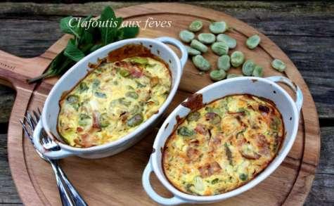 Clafoutis aux fèves et speck