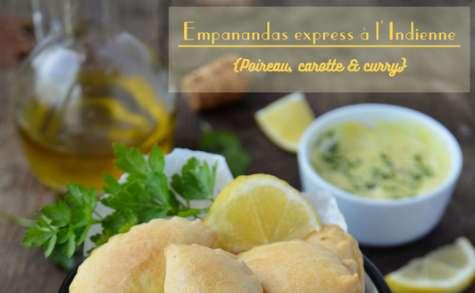 Empanadas express à l'indienne aux poireaux, carottes et curry