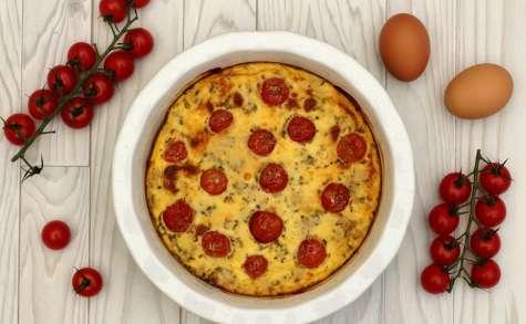 Clafoutis au thon et tomates cerises