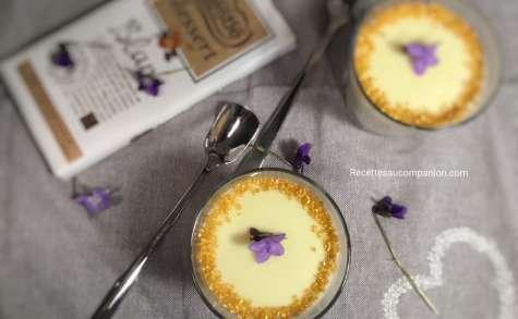 Crème dessert au chocolat blanc sans oeuf