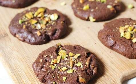 Cookies maison au chocolat et éclats de pistaches