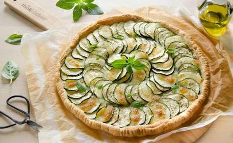 Tarte fine courgettes mozzarella - Turbigo Gourmandises