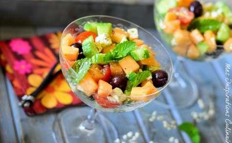 Salade de melon feta, recette facile et rapide