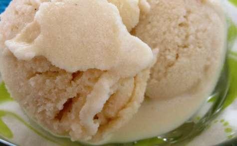 La glace à la vanille et à la menthe