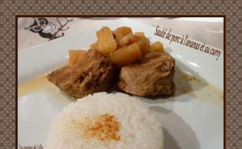 Sauté de porc à l'ananas et au curry