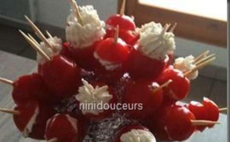 Tomate cerise farçis au boursin