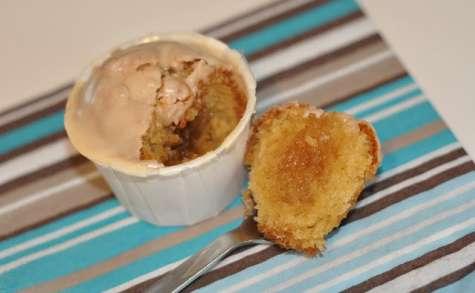 Cupcakes coeur et topping caramel beurre salé