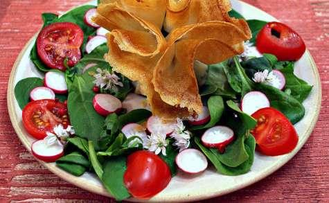 Aumônières sur lit de salade
