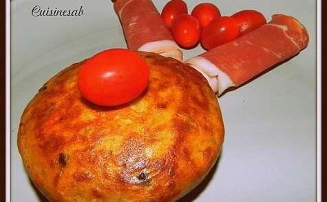 Cake à la ratatouille et à la tome