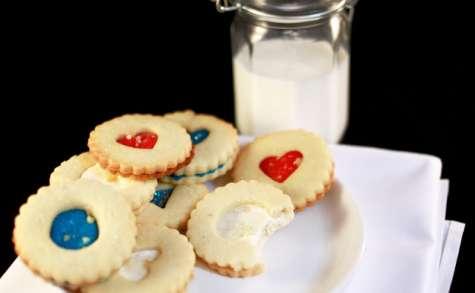 Biscuits sandwichs aux couleurs de la France