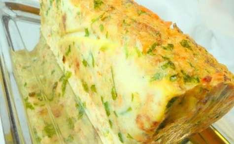 Cake de saumon aux crevettes.