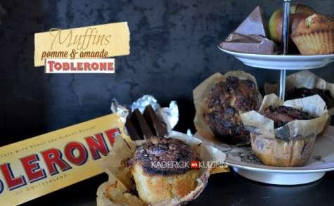 Muffins aux pommes amande miel et chocolat Toblerone