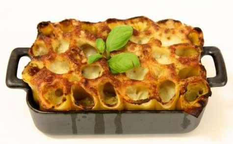 Paccheris farcis aux légumes du soleil et mozzarella