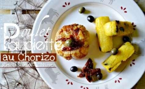Paupiette poulet farcies au chorizo et polenta aux olives