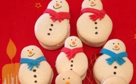 Macarons bonhomme de neige