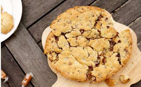 Cookie géant chocolat et caramel beurre salé