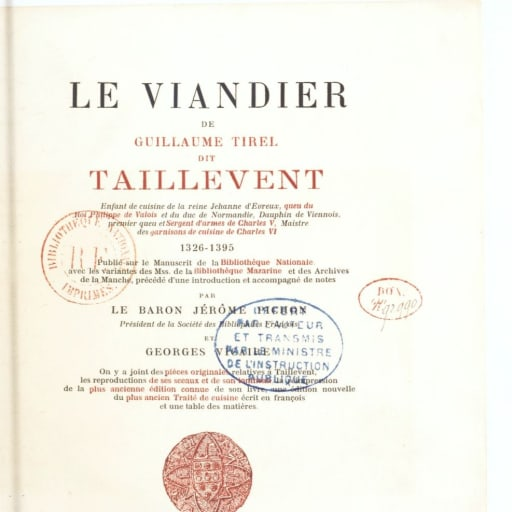 Taillevent (guillaume tirel)