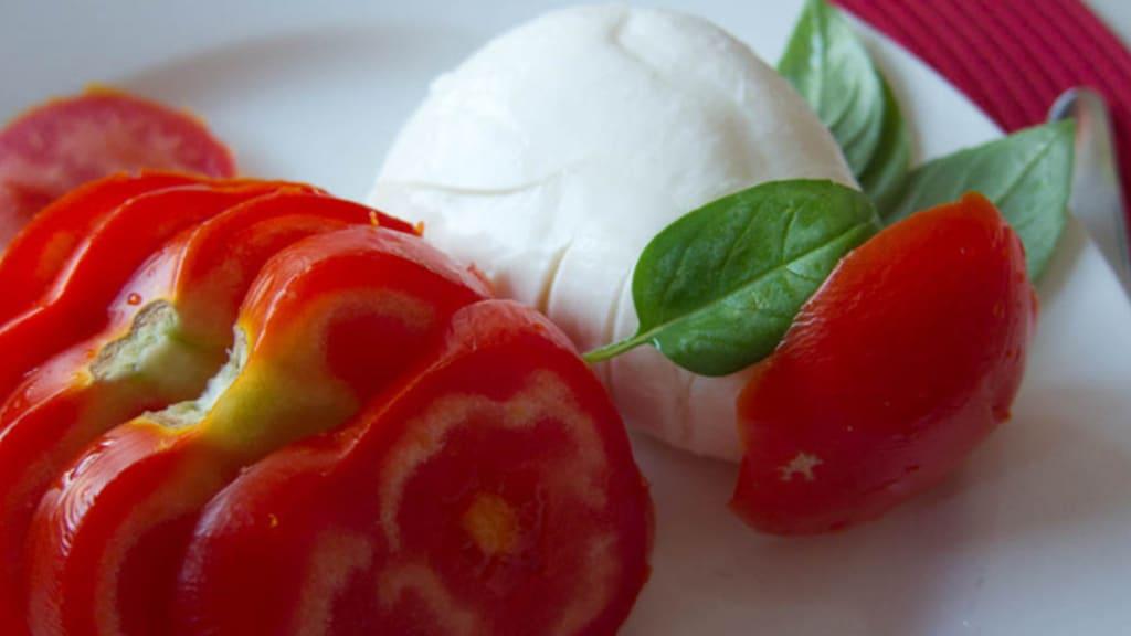 Tomates, Mozzarella et Basilic