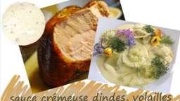 Sauce crémeuse pour dindes et volailles rôties