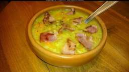 Soupe de fèves au bacon