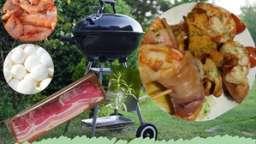 Brochettes de langoustines aux champignons, parfum estragon