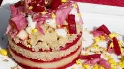 Gâteau de crudités et légumes lacto-fermentés maison