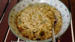 Crozets façon risotto aux poireaux et comté