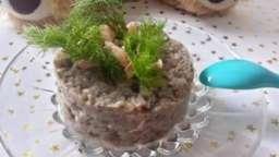 Purée fenouil et champignons, saumon