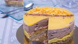 Entremet orange, chocolat et pain d'épices