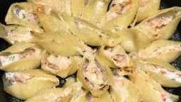 Conchiglionis ricotta saumon fumé gratinés au parmesan