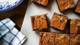 Brownie marbré au tahini et chocolat Cémoi