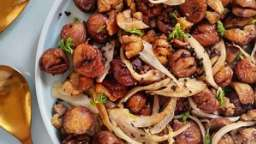 Poêlée de marrons, fenouil émincé, et épices