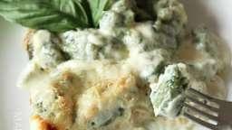 Gnocchis aux épinards et sauce au bleu