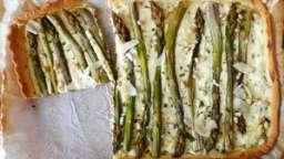 Tarte aux asperges vertes au parmesan