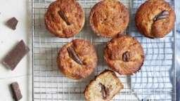 Muffins noix de coco et chocolat à la farine complète