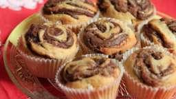 Muffins à la pâte à tartiner