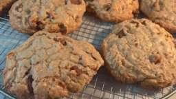Biscuits à la farine de sarrasin, chocolat et amandes