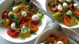 Futurologie de tomate - mozzarella