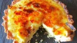 Tarte à la crème d'oranges caramélisée façon crème brûlée