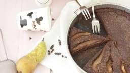 Gâteau fin chocolat poire – sans beurre, sans gluten
