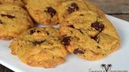 Cookies curcuma, vanille et chocolat noir